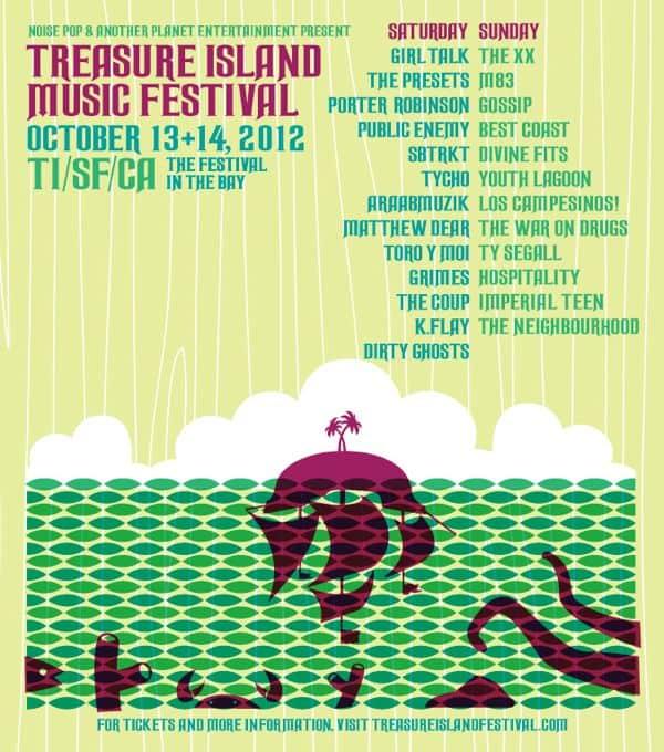 Treasure Island Music Festival Lineup Announcement 2012