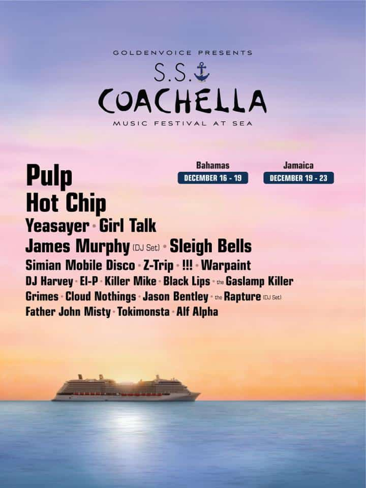 Coachella Music Festival At Sea Lineup