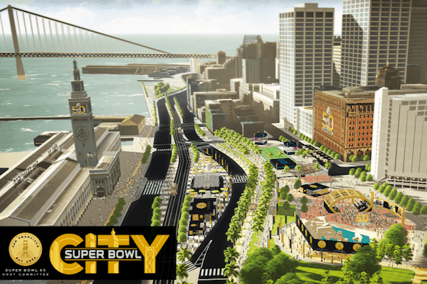 Super Bowl 50 Street Closures