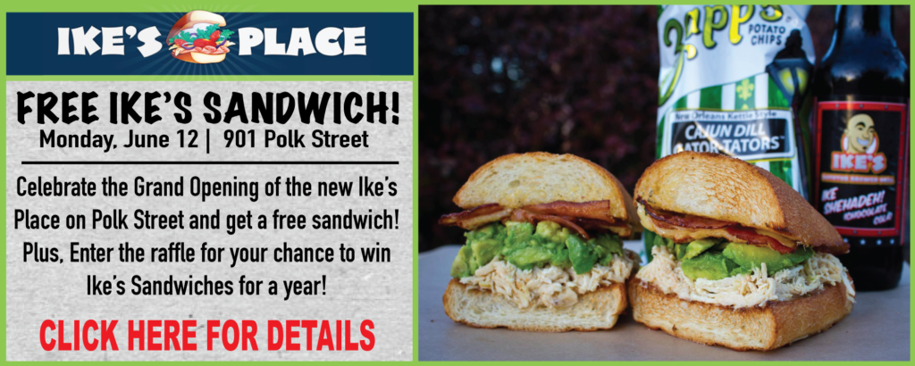 Free Ike's Sandwiches at New Polk Street Location