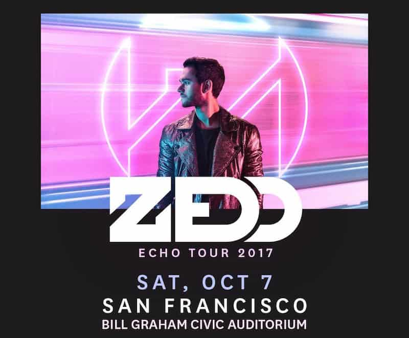 Zedd at Bill Graham Civic Auditorium San Francisco