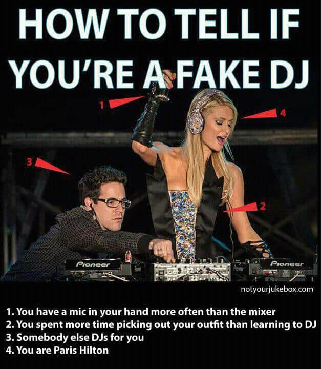 Paris Hilton Fake DJ at POP Festival