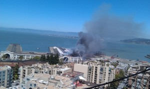 Pier 29 on Fire in San Francisco