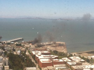 Fire at Pier 29 San Francisco