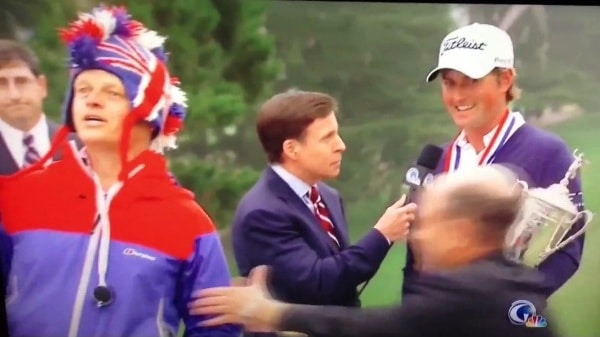 US Open video trophy interview Webb Simpson