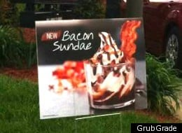 Burger Kin Bacon Sundae