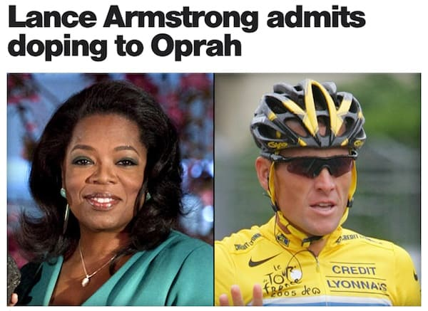 So…. Lance Armstrong finally admits to blood doping. Damn that Oprah is good…