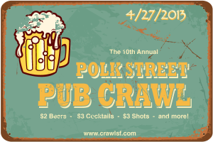 San Francisco Pub Crawl Polk Street SF