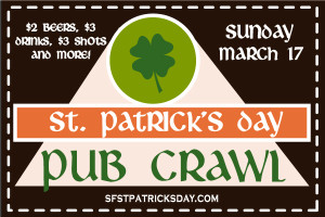 San Francisco St. Patricks Day Pub Crawl