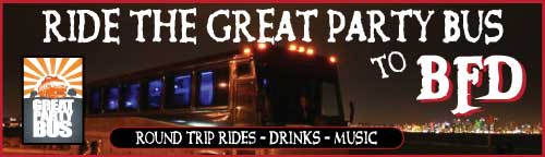 BFD lineup 2013 tickets party bus