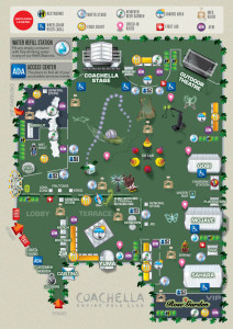 Coachella Festival Map