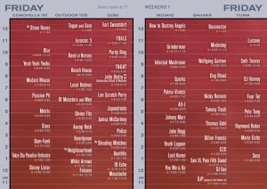 Coachella Set Times 2013