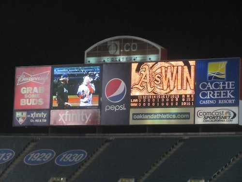 A's Beat the the Angels in a 6.5 Hour 19 Inning Pie-in-the -face Ending Thriller