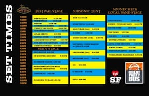 Set Times BFD 2013 Lineup San Francisco