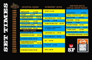 Set Times BFD 2013