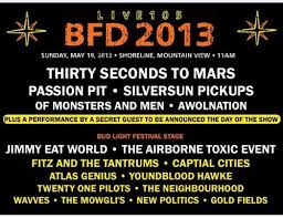 BFD 2013 Lineup