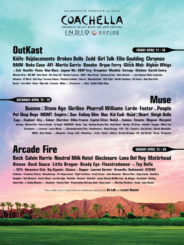Coachella 2014 Lineup Announcement