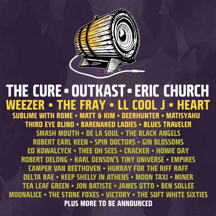 Bottlerock Lineup Announcement for 2014