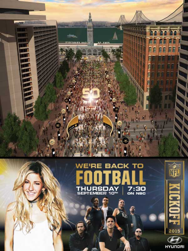 Ellie Goulding and Train at Justin Herman Plaza: NFL Kickoff