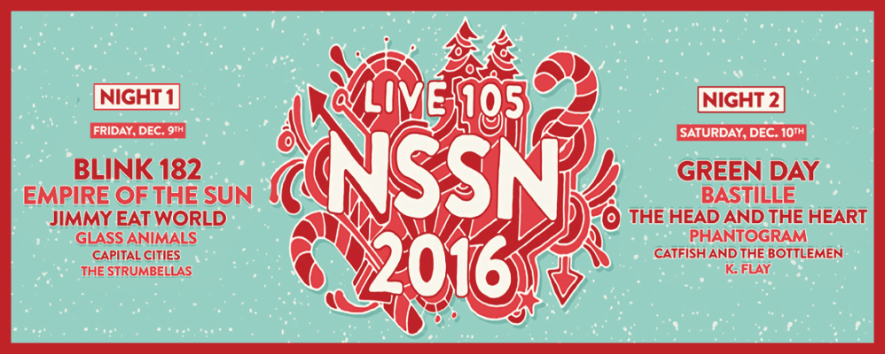 Live 105's Not So Silent Night Lineup Announcement with Green Day, Blink 182, Empire of the Sun & More!