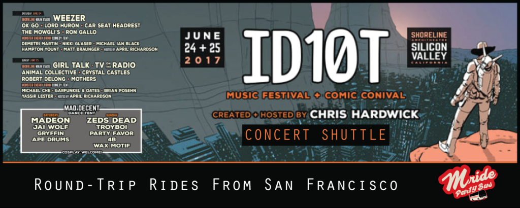 San Francisco Party Bus to the ID10T Festival