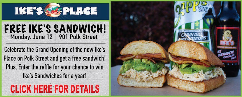 Free Sandwiches Ike's Place