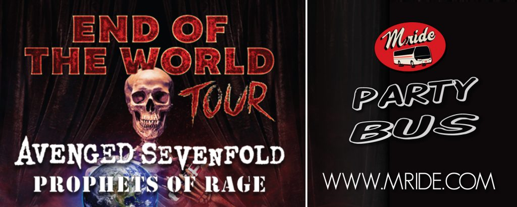 Avenged Sevenfold San Francisco Shuttle Bus – Concord Pavilion
