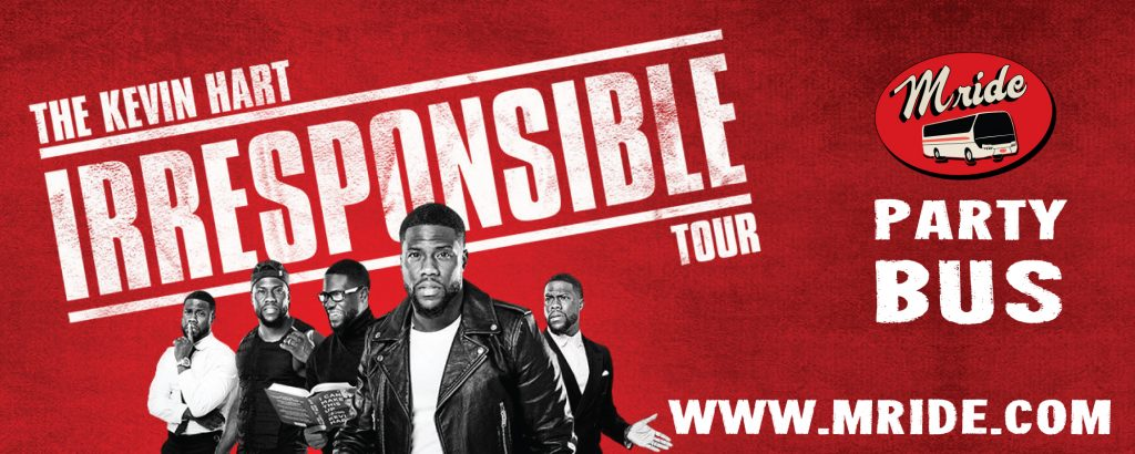 Kevin Hart Shoreline Amphitheater Party Bus
