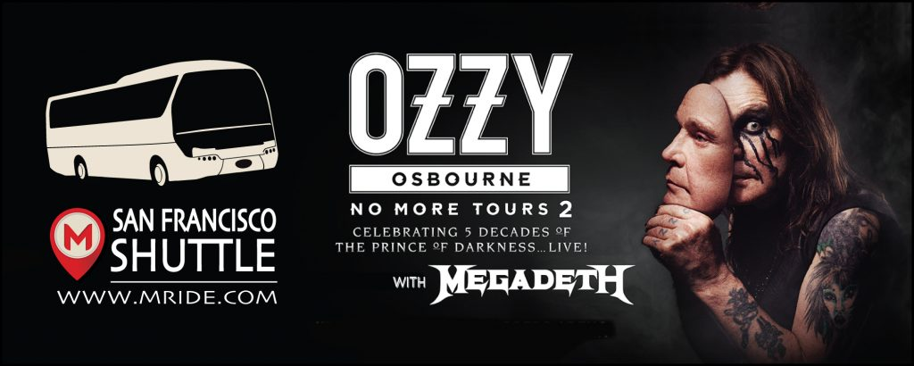 Ozzy Osbourne Shuttle Bus to Shoreline Amphitheatre