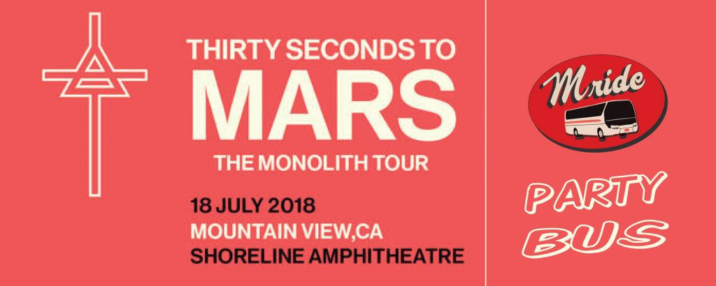 Thirty Seconds to Mars – Shoreline Amphitheater Shuttle Bus