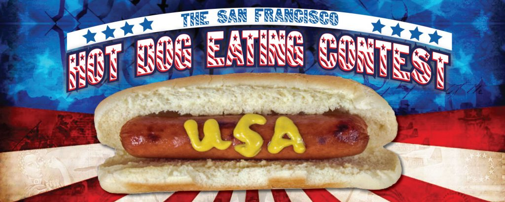 The San Francisco Hot Dog Eating Contest is Coming to Mcteagues on July 4