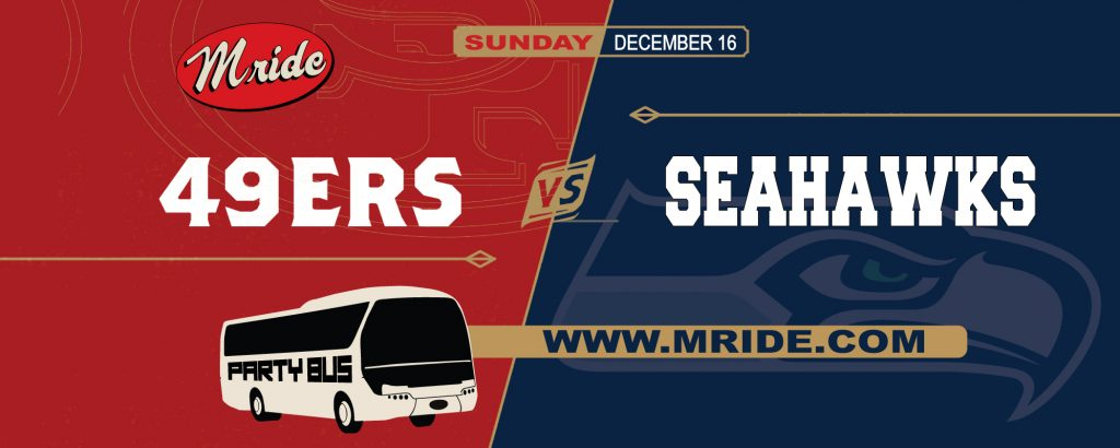 49ers vs. Seahawks Shuttle Bus to Levi's Stadium