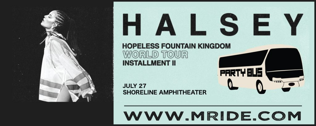 Halsey Party Bus to Shoreline Amphitheater