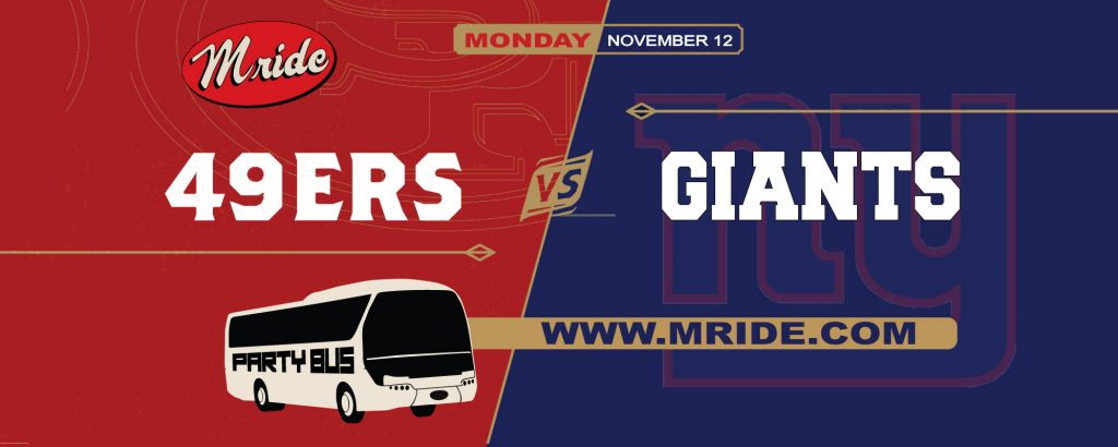 49ers vs. Giants Party Bus to Levi's Stadium