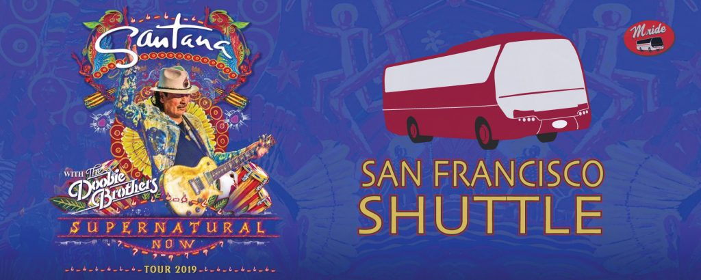 Santana Shuttle Bus to Shoreline Amphitheater