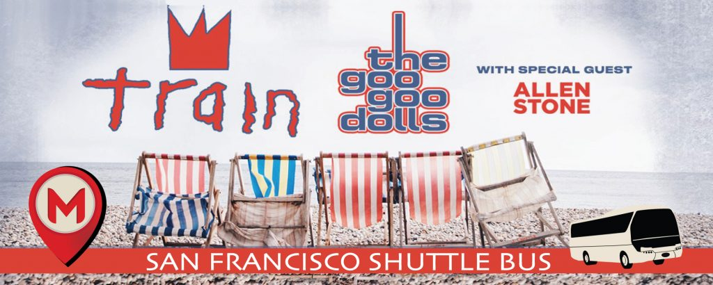 Train & Goo Goo Dolls Shoreline Amphitheater Shuttle Bus