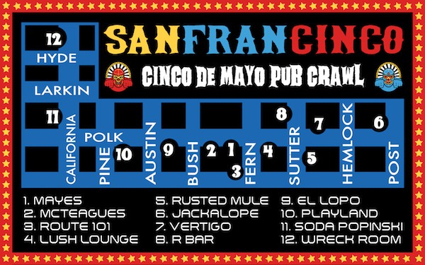 Cinco De Mayo Pub Crawl San Francisco