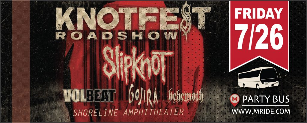 Shoreline Amphitheater Shuttle Bus to The Knotfest Roadshow