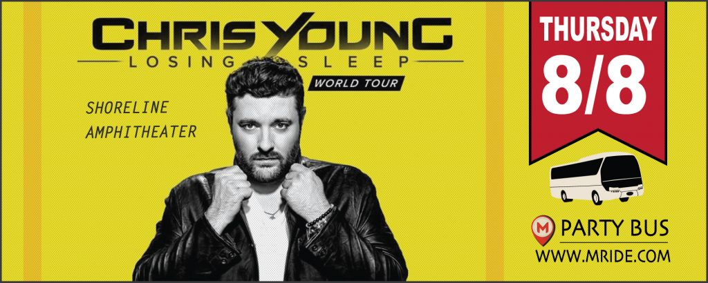 Chris Young Shoreline Amphitheater Party Bus