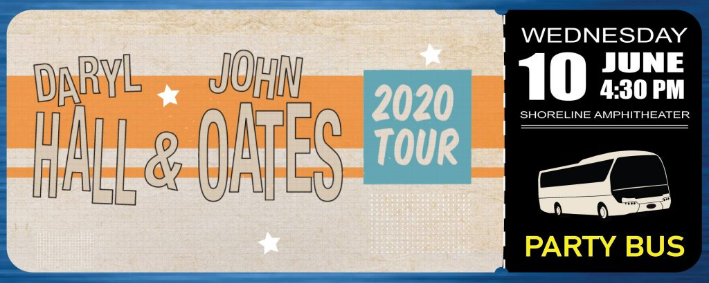 Shoreline Amphitheater Party Bus: Hall & Oates